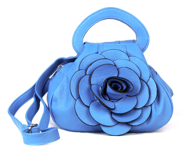 Blue Flower Fashion Handbag