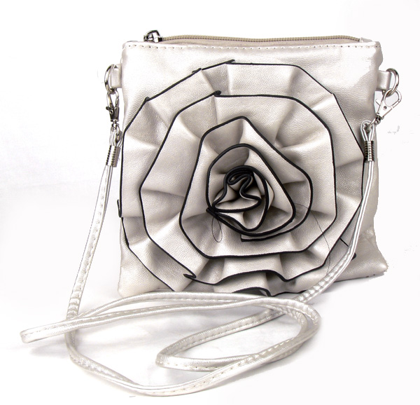 Small Silver Flower Fashion Handbag
