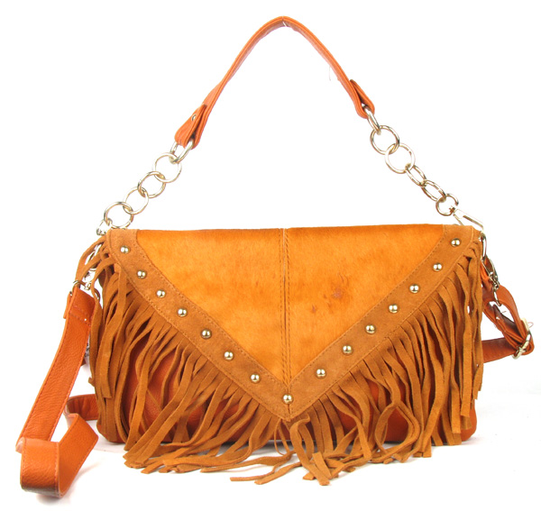 Orange Fringe Tassel Fashion Handag