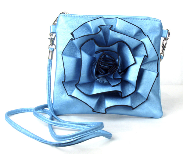 Small Light Blue Flower Fashion Handbag