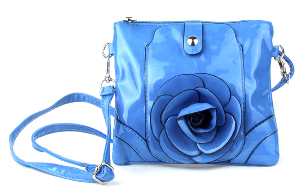 Small Cell Phone Flower Light Blue Fashion Handbag