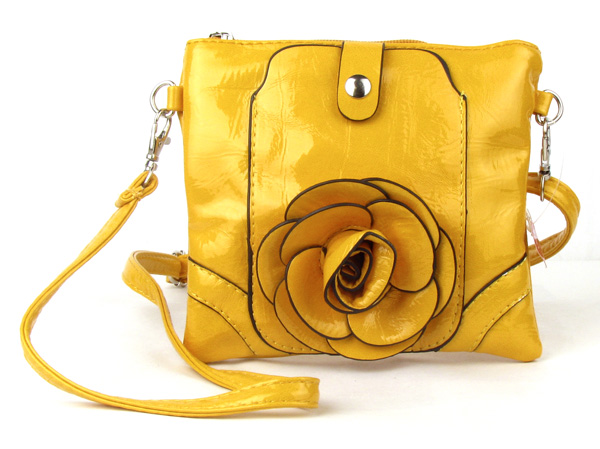 Small Cell Phone Flower Yellow Fashion Handbag