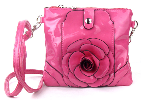 Small Cell Phone Flower Pink Fashion Handbag