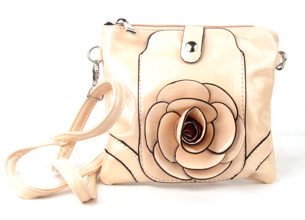 Small Cell Phone Flower Apricot Fashion Handbag