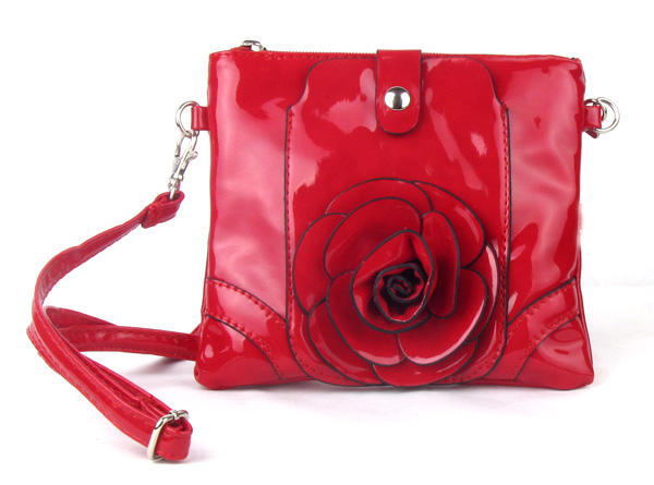 Small Cell Phone Flower Red Fashion Handbag