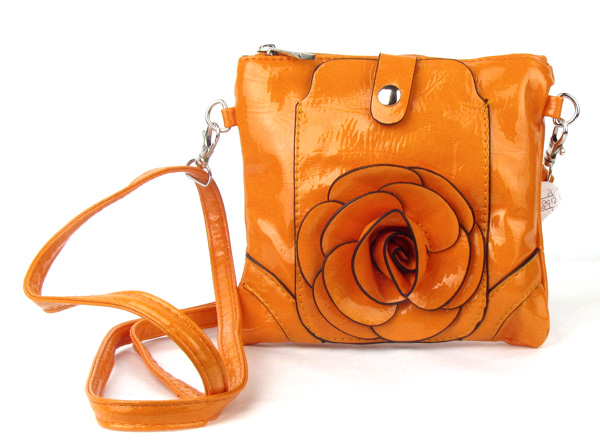 Small Cell Phone Flower Orange Fashion Handbag