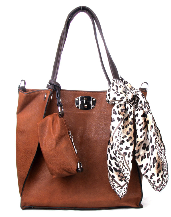 Brown Scarf Fashion Handbag