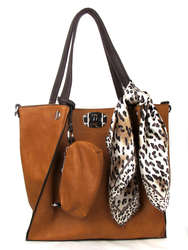 Apricot Scarf Fashion Handbag