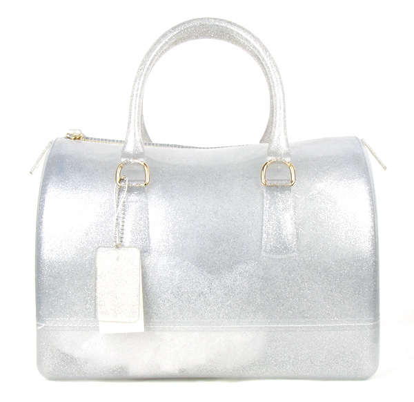 Jelly Candy Silver Semi-transparent Fashion Handbag