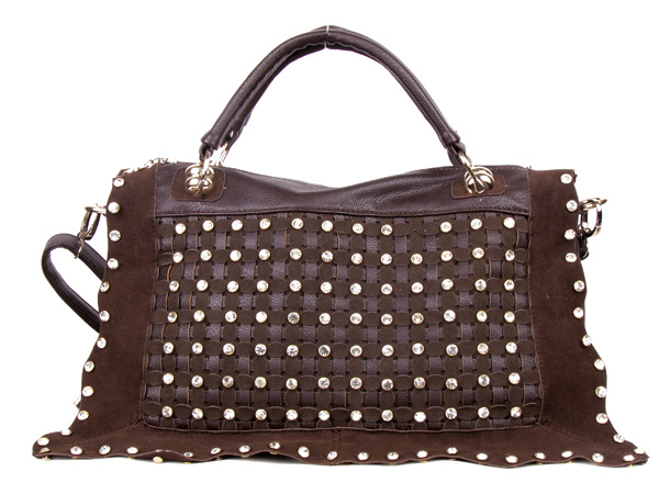 Coffee Rhinestone Handbag