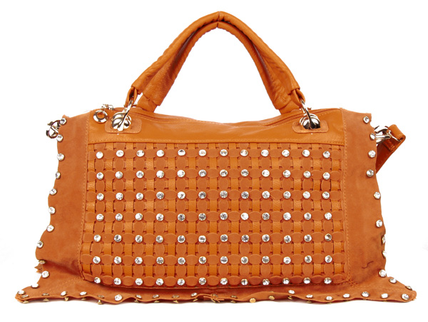 Orange Rhinestone Handbag