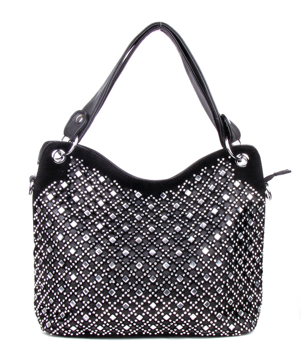 Diamand Black Rhinestone Fashion Handbag