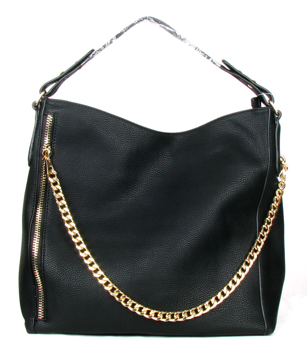 Zipper Chain Black Fashion Handbag
