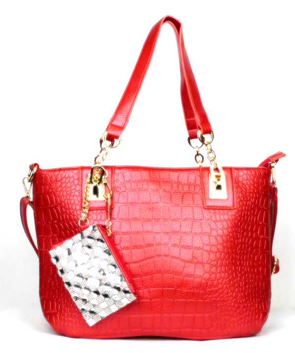 Crocodile Red Fashion Handbag