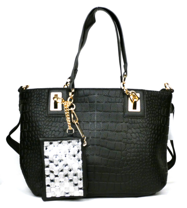 Crocodile Black Fashion Handbag