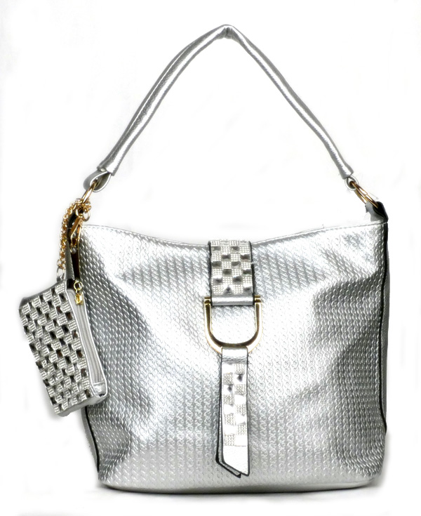 Flap Strap Silver Fashion Handbag