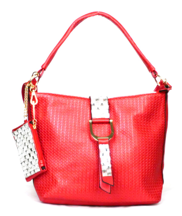 Flap Strap Red Fashion Handbag