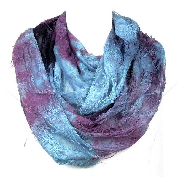 Butterfly Blue Circle Loop Infinity Scarf