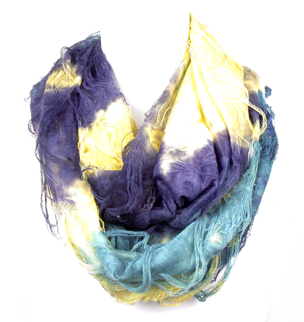 Butterfly Yellow Circle Loop Infinity Scarf