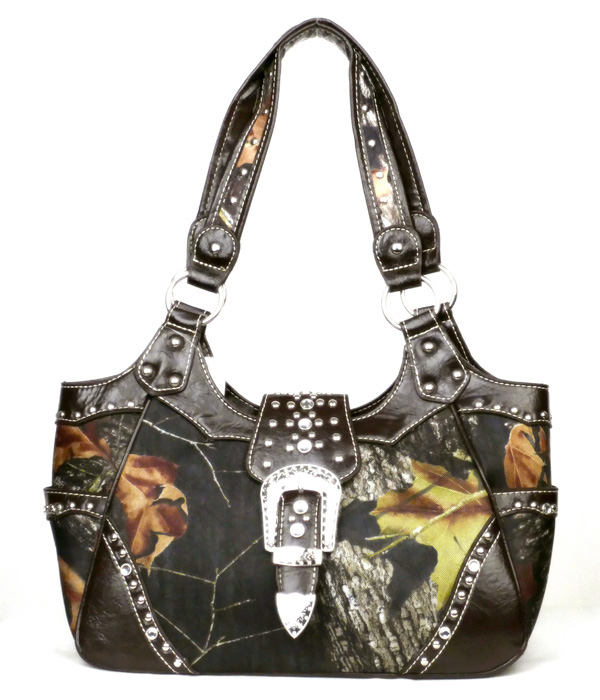 Western Concealed Carry Gun Coffee Camouflage Buckle Handbag
